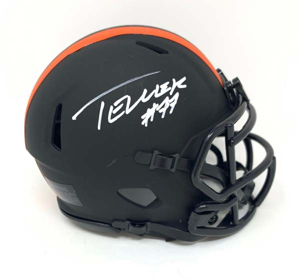 Wyatt Teller Signed Cleveland Browns Eclipse Mini Helmet