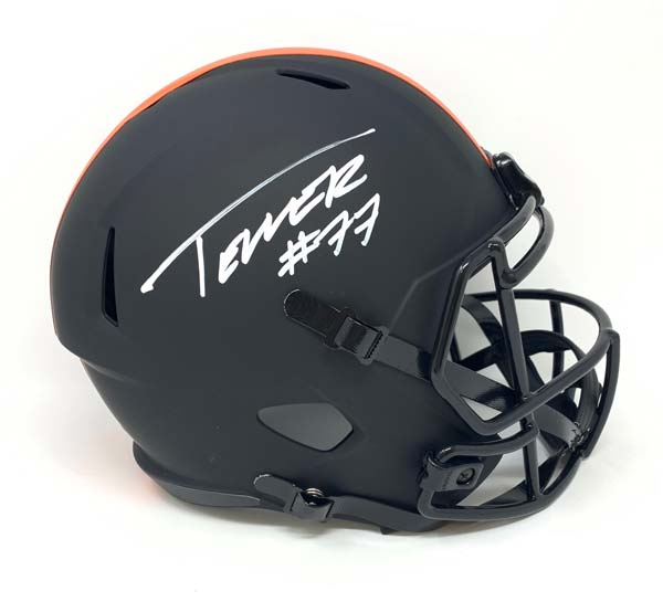 Wyatt Teller Signed Cleveland Browns Full Size Eclipse Helmet
