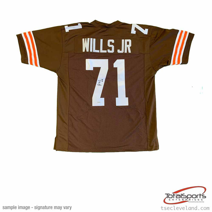 Jedrick Wills Signed Custom Brown Football Jersey