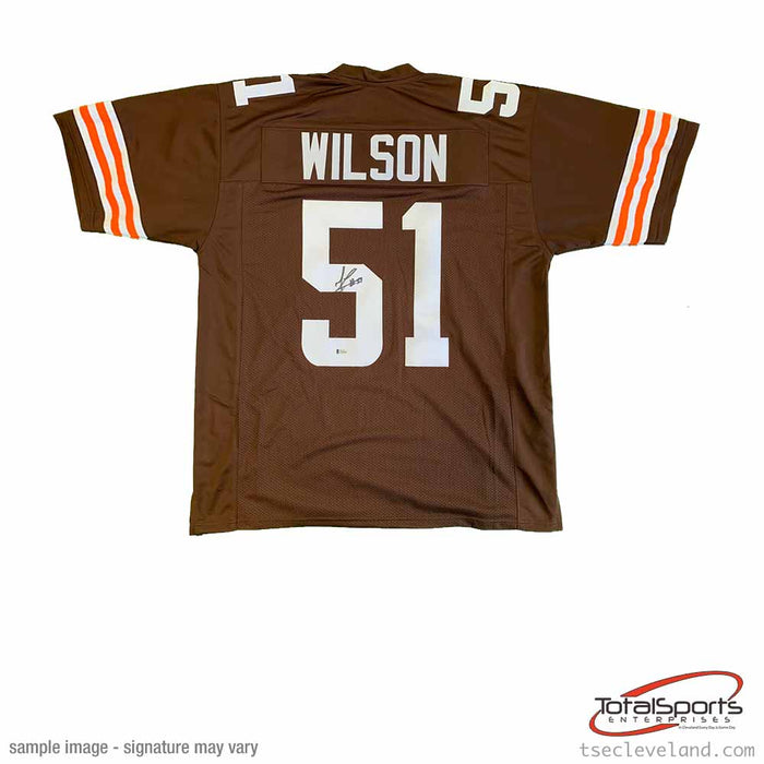 Mack Wilson Signed Custom Brown Football Jersey