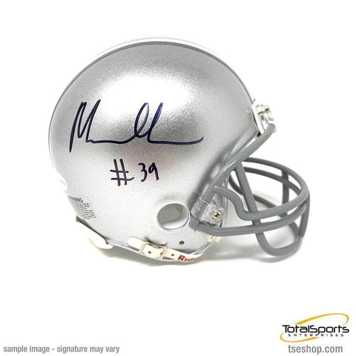 Malik Harrison Signed Ohio State Gray Mini Helmet