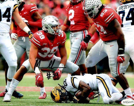 Malik Harrison Signed Ohio State Over Michigan 8x10 Photo