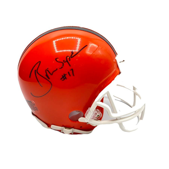 Brian Sipe Signed Cleveland Browns Throwback Mini Helmet