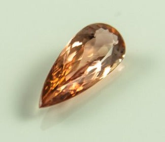 Imperial Topaz Pear Salmon Loupclean Brazil Natural Noheat 2 8Ct