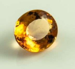 Imperial Topaz Oval Honey Color Loupclean Brazil Natural Noheat 6.00 ct