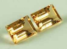 Load image into Gallery viewer, Imperial Topaz Rectangular Small Visible Inclusions Brazil Untreated Noheat Champagne Goldpeach 8.96 ct