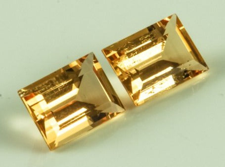 Imperial Topaz Rectangular Small Visible Inclusions Brazil Untreated Noheat Champagne Goldpeach 8.96 ct