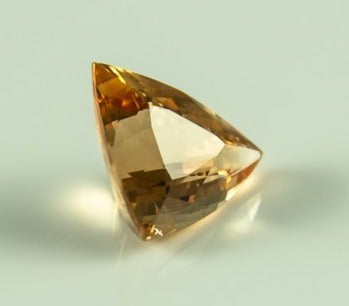 Imperial Topaz Triangle Trillion Brazil Unheated Natural Intense Gold Small Inclusion 5.93 ct