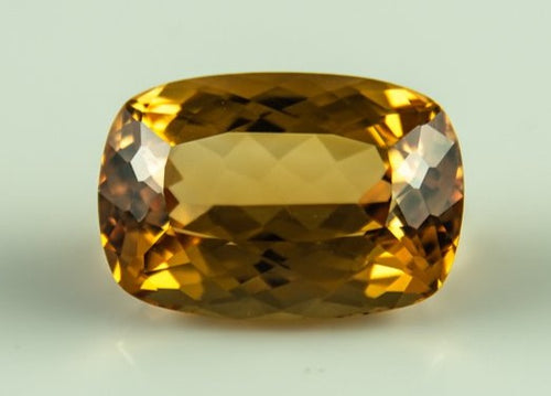 Imperial Topaz Cushion Eyeclean Brazil Unheated Untreated Natural Cognac 23.75 ct