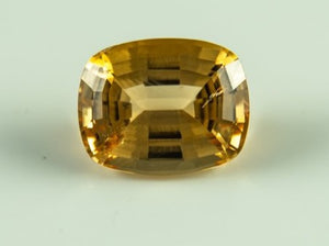 Imperial Topaz Cushion Visible Inclusion Brazil Untreated Noheat Natural 12 09Ct