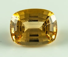 Load image into Gallery viewer, Imperial Topaz Cushion Visible Inclusion Brazil Untreated Noheat Natural 12 09Ct