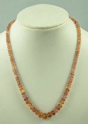 Imperial Topaz Beads Necklace Handmade Natural 14Kt Goldclasp Silk Knotbyknot 48 Co 275 Ct