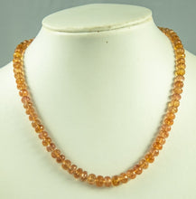 Load image into Gallery viewer, Imperial Topaz Beads Necklace Handmade Natural 925Ag 42Cm 170Ct