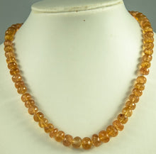 Load image into Gallery viewer, Imperial Topaz Beads Necklace Handmade Natural 925Ag 43Cm 290Ct