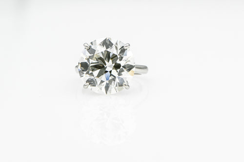 Round 15.01 Carats | Platinum Band Engagement Ring