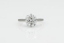Load image into Gallery viewer, Cushion 3.02 Carats | Platinum Band Engagement Ring