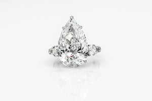 17 carat Pear Shape Diamond Ring