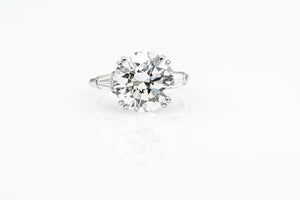 Round 5.01 Carats | Platinum Band Engagement Ring