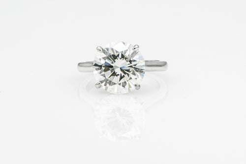 Round 6.04 Carats | Platinum Band Engagement Ring