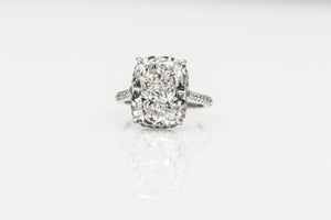 Cushion 10.03 Carats | Platinum Band Engagement Ring