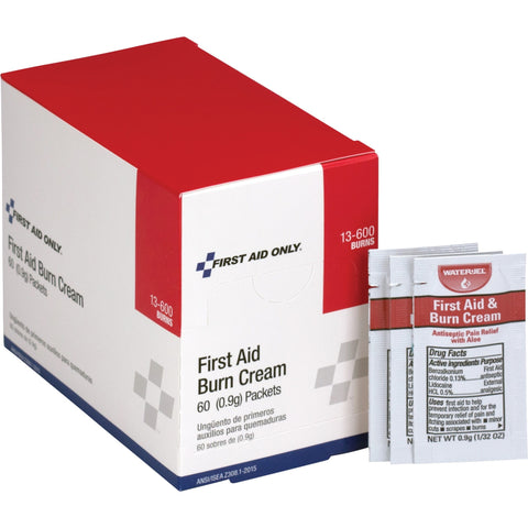 First Aid Only Burn Cream Packets, 60 / Box (Quantity)