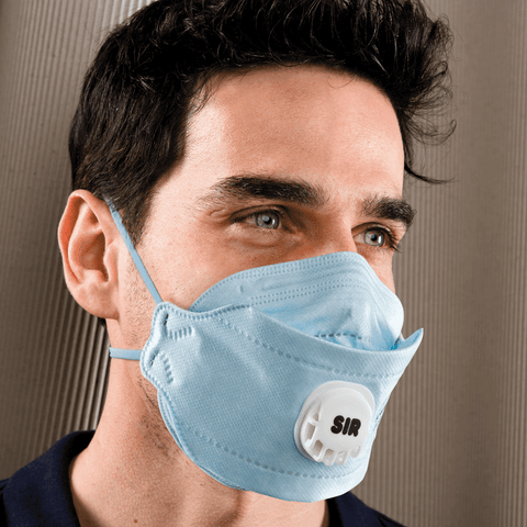 HIGH EFFICIENCY DISPOSABLE RESPIRATORS - FOLDABLE w/VALVE [20pcs]