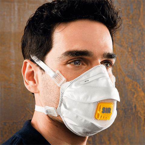 HIGH-EFFICIENCY DISPOSABLE RESPIRATOR FFP3 NR W/VALVE [5pcs]