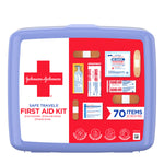 Johnson & Johnson Safe Travels Portable Emergency First Aid Kit, 70 pc