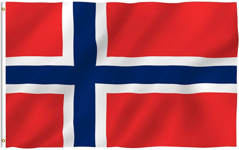 Anley Fly Breeze Series - Norway Polyester Flag - 3' x 5'