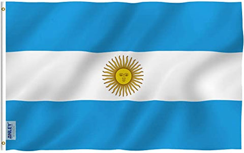 Anley Fly Breeze Series - Argentina Polyester Flag - 3' x 5'