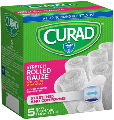 Curad - Stretch Rolled Gauze, 5 Count