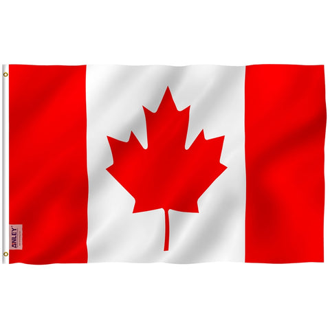 Anley Fly Breeze Series - Canada Polyester Flag - 3' x 5'