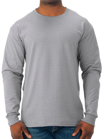 Jerzees Men's and Big Men's Moisture Wicking Long Sleeve Crew T-Shirt