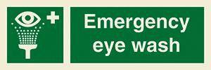 Marine Safety Sign: Emergency Eye Wash