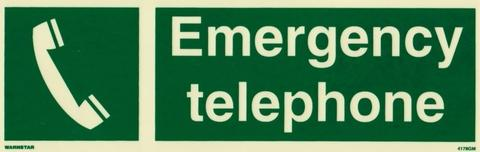 Marine Safety Sign: Emergency Telephone