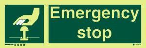 Marine Safety Sign: Emergency Stop