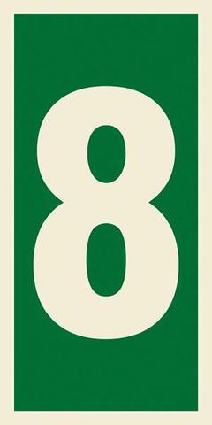 Marine Safety Sign, IMO Life Saving App. Symbol: Number 8