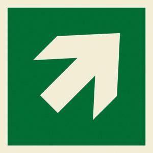Marine Safety Sign: Arrow Rotatable to Point Diagonally in 4 Directions