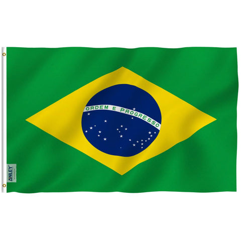 Anley Fly Breeze Series - Brazil Polyester Flag - 3' x 5'