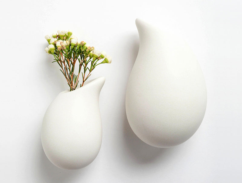 Snow Droplet Wall Vase S
