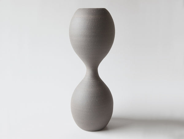 Grey Hour Glass Vase