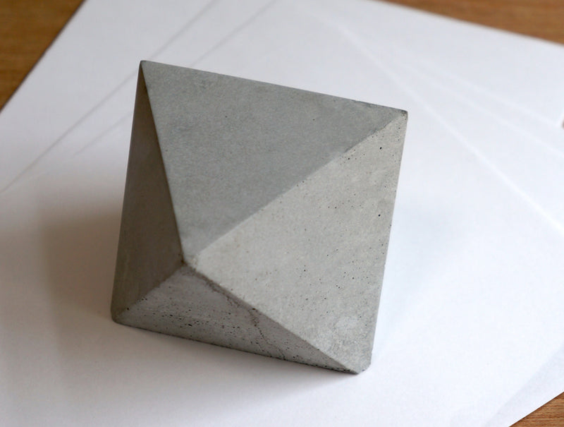 Concrete Polygon Paperweight