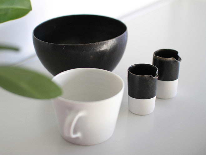 Black & White Milk Pitcher by Naotsugu Yoshida at OEN Shop