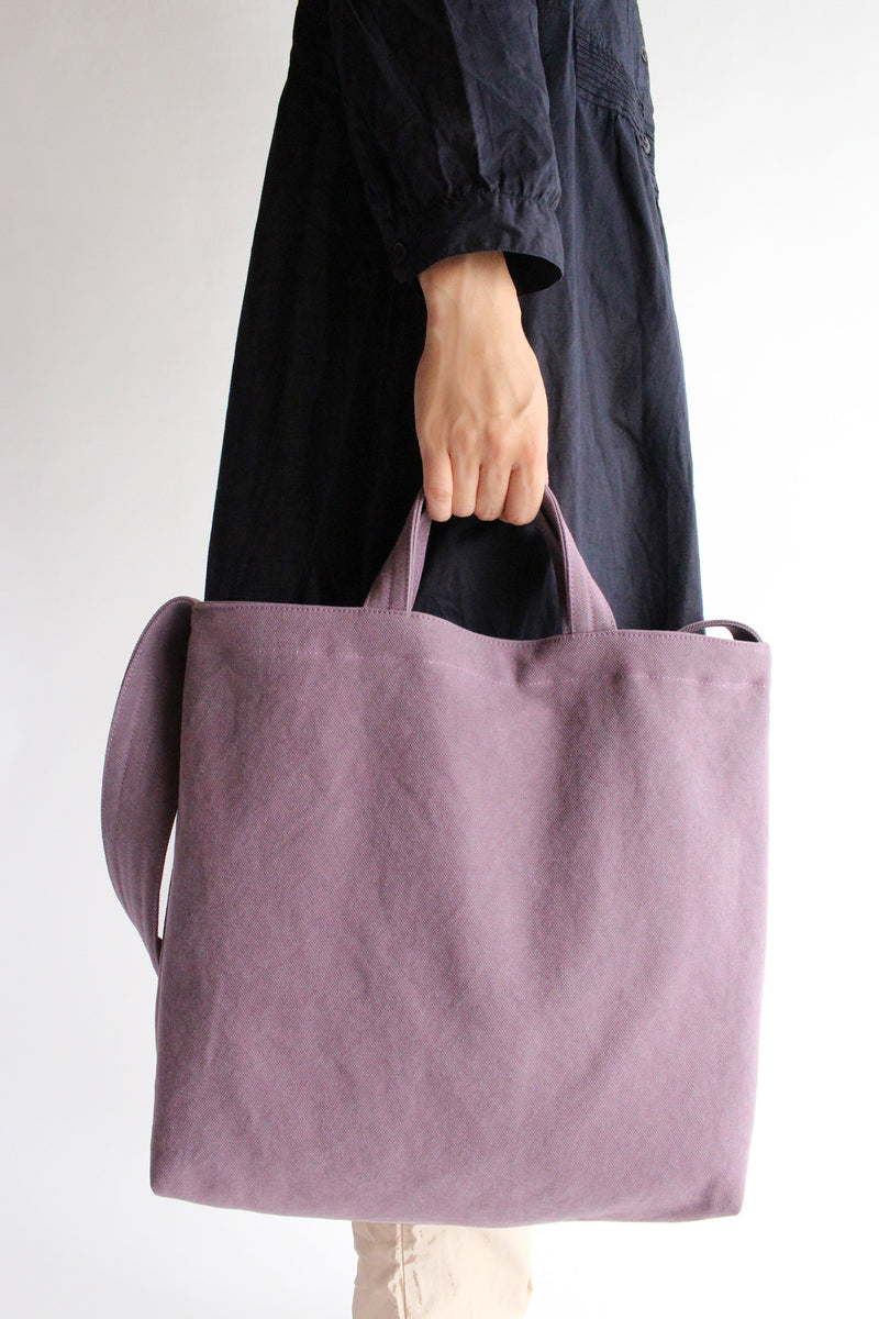 Violet Cloth Shoulder Bag