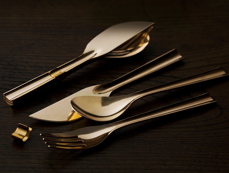 Brass Dinner Knife Set