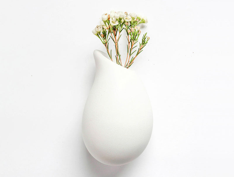 Snow Droplet Wall Vase L