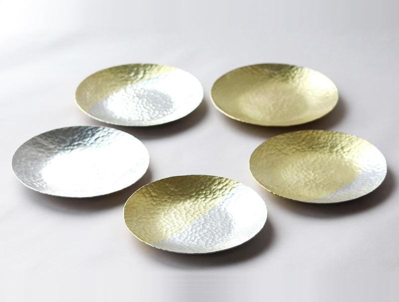 5 Brass Moon Dish Set