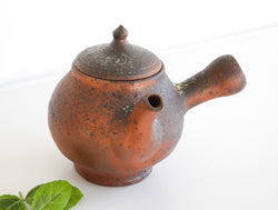 Red Side Handle Teapot