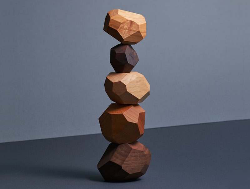 Tumi-isi Stacking Blocks Mixed Wood