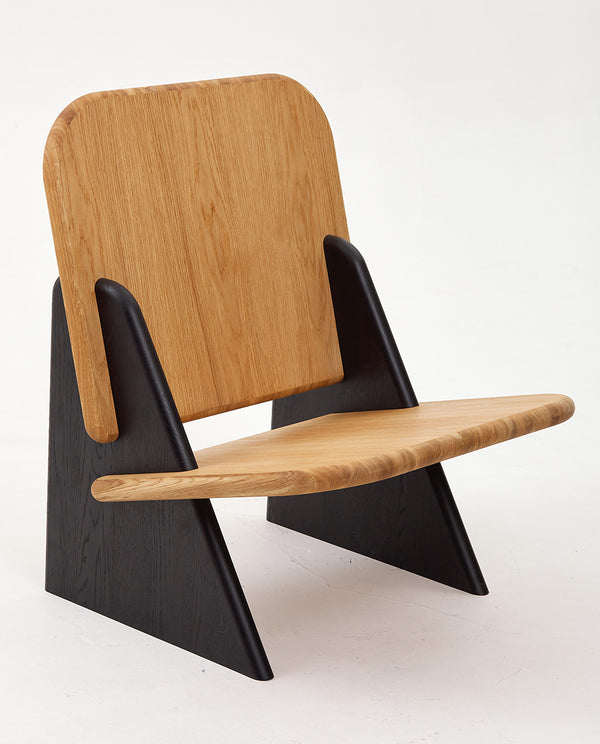 Dolmena Black & Oak Chair
